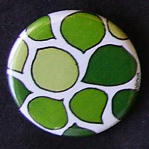 Badge Motifs Verts - Gros Pétales