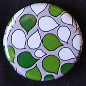 Badge Motifs Verts - Pétales Moyens