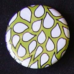 Badge Motifs Verts - Pétales Vert Clair