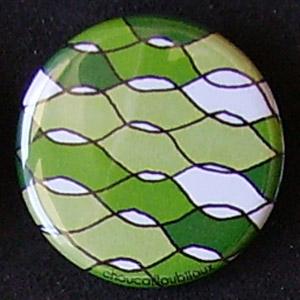 Badge Motifs Verts - Vagues