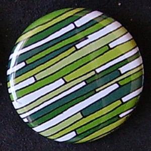 Badge Motifs Verts - Ardoises