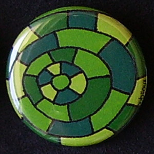 Badge Motifs Verts - Marelle
