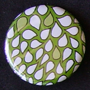 Badge Motifs Verts - Pétales Vert Vif