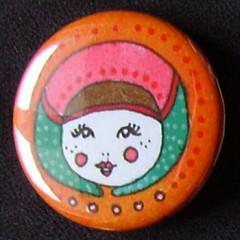 Badge Poupées Russes - Orange
