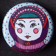 Badge Poupées Russes - Violet & Parme
