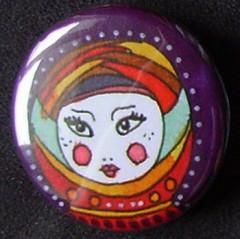 Badge Poupées Russes - Violet