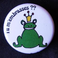 Badge Contes & Princesse - Tu m'embrasses ?