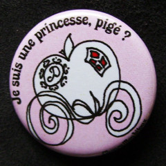 Badge Je suis une princesse pigé ? - Rose pâle