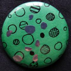 Badge Bulles sur vert