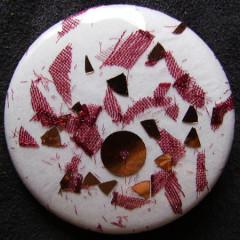 Badge Mousseline et Paillettes Effeuillées