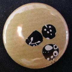 Badge Craft Paillettes Noires