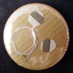 Badge Tournoiement Ecru sur Craft