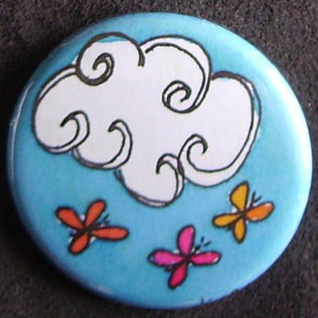 Badge Idylle - Céleste