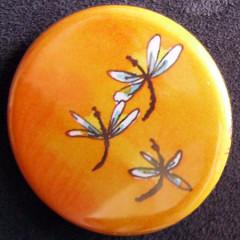 Badge Idylle - Libellules