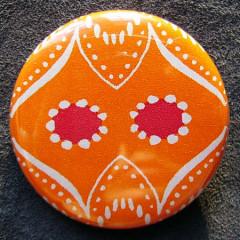 Badge Régalade Hibou Orange