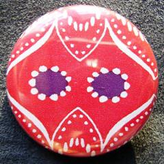 Badge Régalade Hibou Rouge