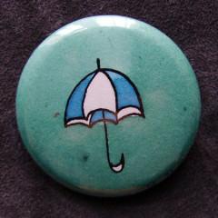 Badge Parapluie Bleu Fumé