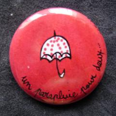 Badge Parapluie pour Deux