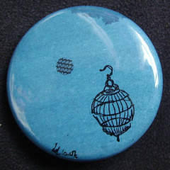 Badge Volière azur