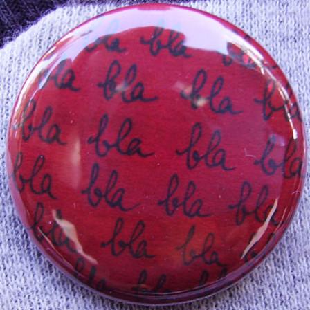 Badge Blablabla Framboise