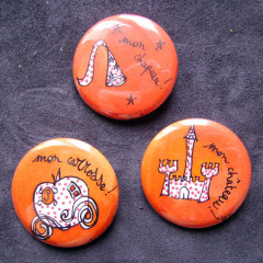 Badge Pack Princesse Orange