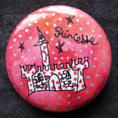 Badge Château à Pois d'Argent