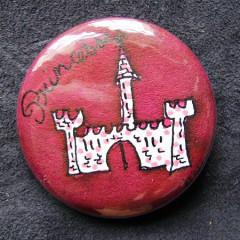 Badge Château Rose Foncé