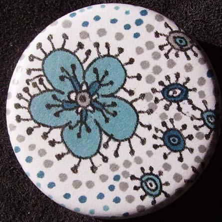 Badge Raja Fleur Azur
