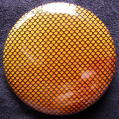 Badge Résille Jaune Soleil