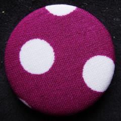 Badge Tissus à Pois