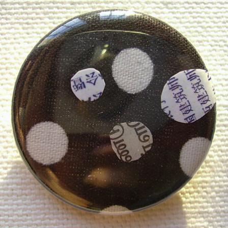 Badge Noir à Pois Blancs