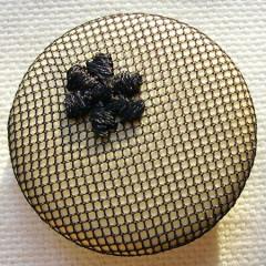 Badge Résille Fleur Or