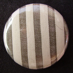 Badge Rayures Beiges et Blanches