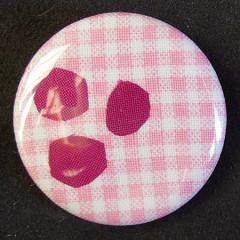 Badge Vichy Pois Amarante