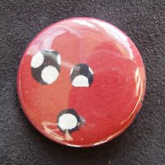 Badge Bourgogne Pois Noirs 1.0