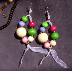 Boucles d'Oreilles Lolipop Multicolore