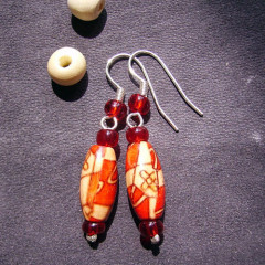 Boucles d'Oreilles OlivRouj