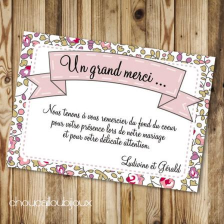 Carton de remerciement - Ludivine & Gérald - Liberty