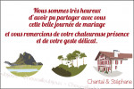 Carton de remerciement - Chantal et Stéphane