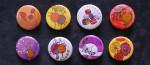 """Mariage """"Couleurs Chaudes"""", badges personnalisés de Laura & Paul"""