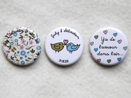 Badges Mariage July & Sébastien 3