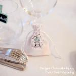 """Mariage """"Dentelle, Pêche & Vert d'eau"""", badges personnalisés de Elodie & Prince"""