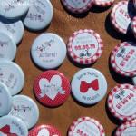 """Mariage """"Rouge, Bleu menthe Vintage"""", badges personnalisés de Sam & Fab"""