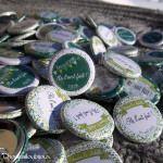 "Mariage ""Camaieu Vert"", badges personnalisés de Vanessa & Achille"