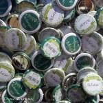Badges mariage personnalisés Vanessa & Achille - Camaieu Vert