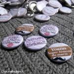 Badges mariage personnalisés Charlène & Arnaud - Photobooth Témoins