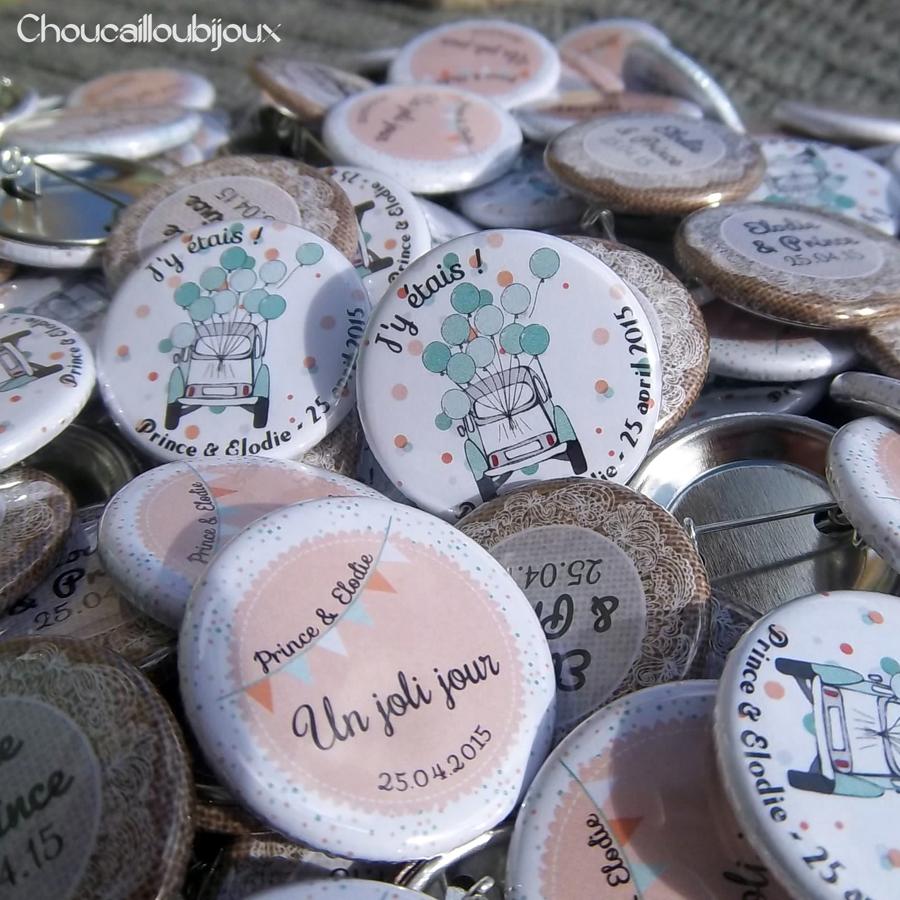 mariage dentelle  p u00eache et vert d u0026 39 eau  badges