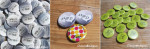 Badges mariage personnalisés Marie & Damien – Argent & Vert Pomme