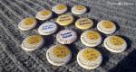 Badges personnalisés EVJF Emilie - Chevrons Jaunes