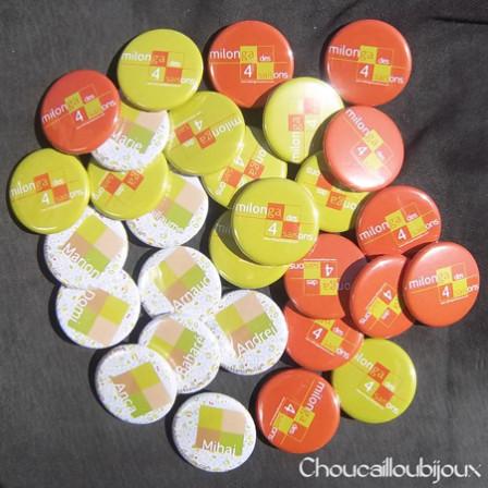Badges personnalisés Milonga des 4 saisons